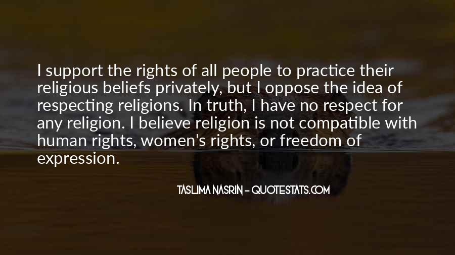 Respect To All Religions Quotes #1821418