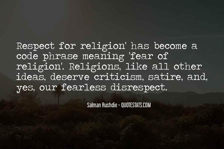 Respect To All Religions Quotes #1822398