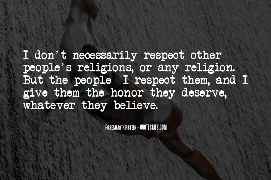 Respect To All Religions Quotes #769238