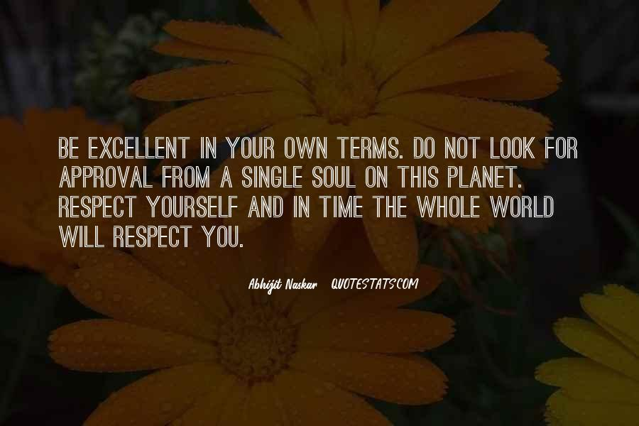 Respect Your Time Quotes #1063749