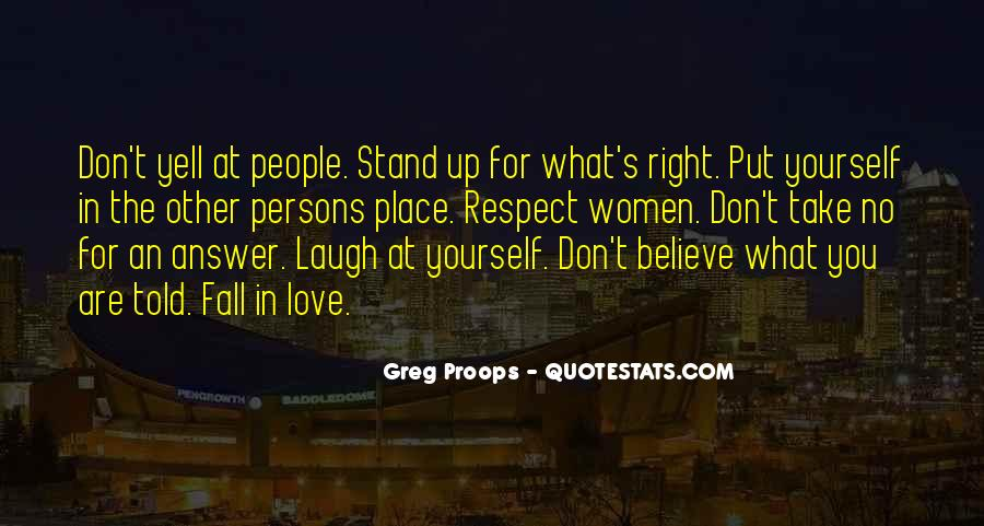 Respect Yourself Love Quotes #120466