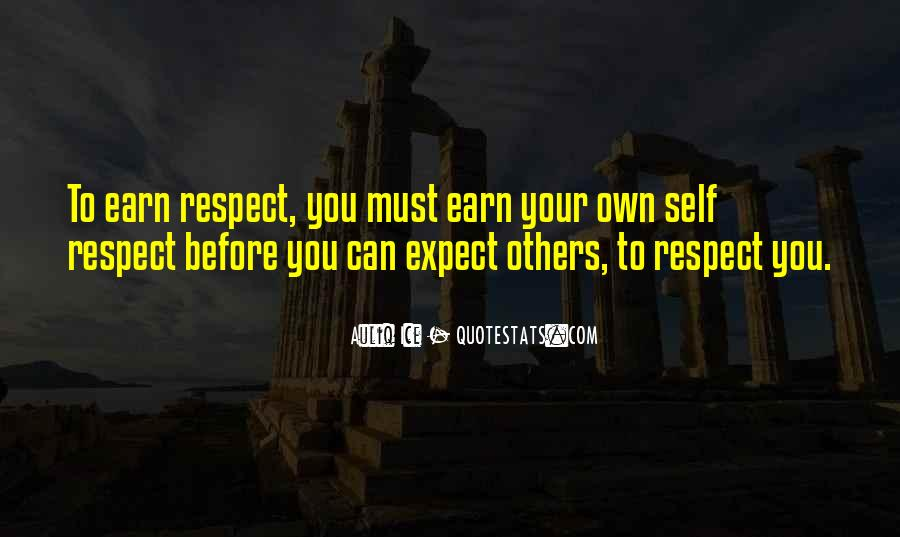 Respect Yourself Love Quotes #1538684