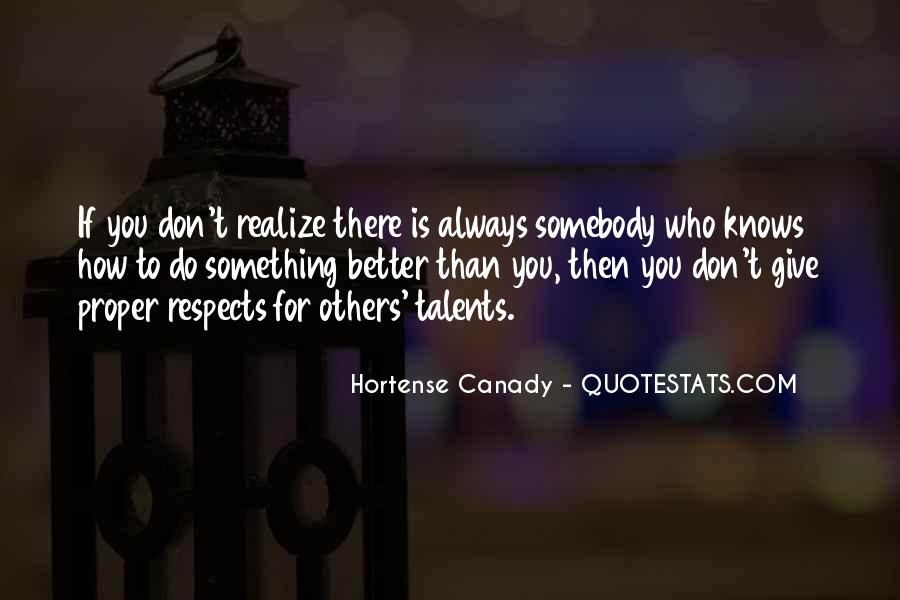 Respects Others Quotes #64295