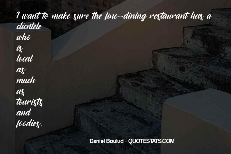 Restaurant Dining Quotes #1319001