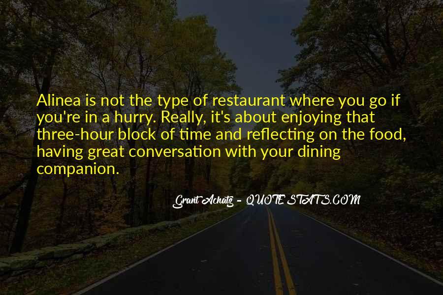Restaurant Dining Quotes #1431306