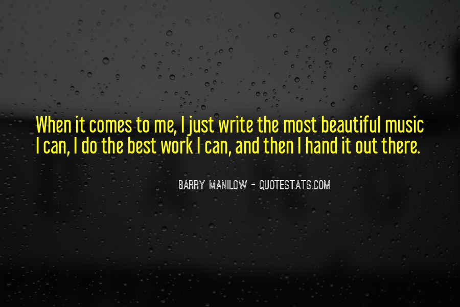 Quotes About Barry Manilow #1680300