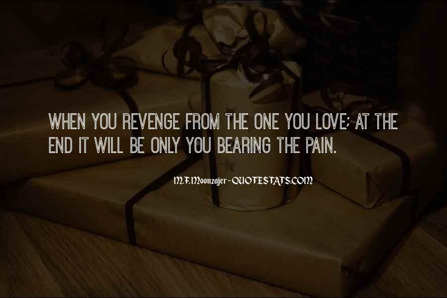 Revenge From Love Quotes #1165118