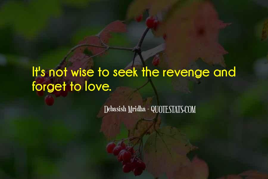 Revenge From Love Quotes #163645