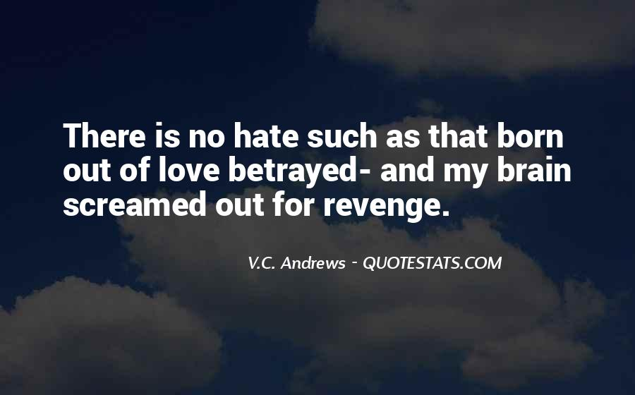 Revenge From Love Quotes #437522