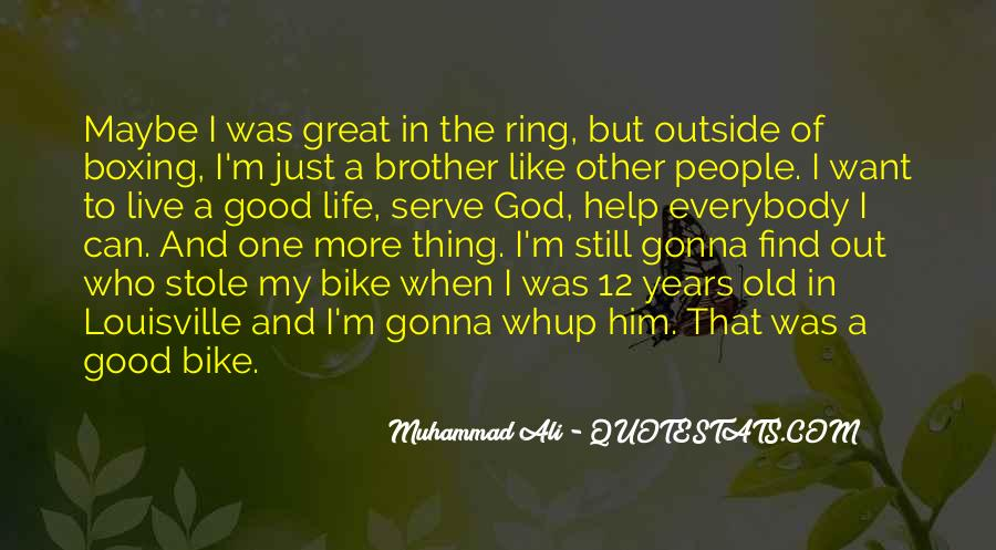 Quotes About Muhammad Ali #58525