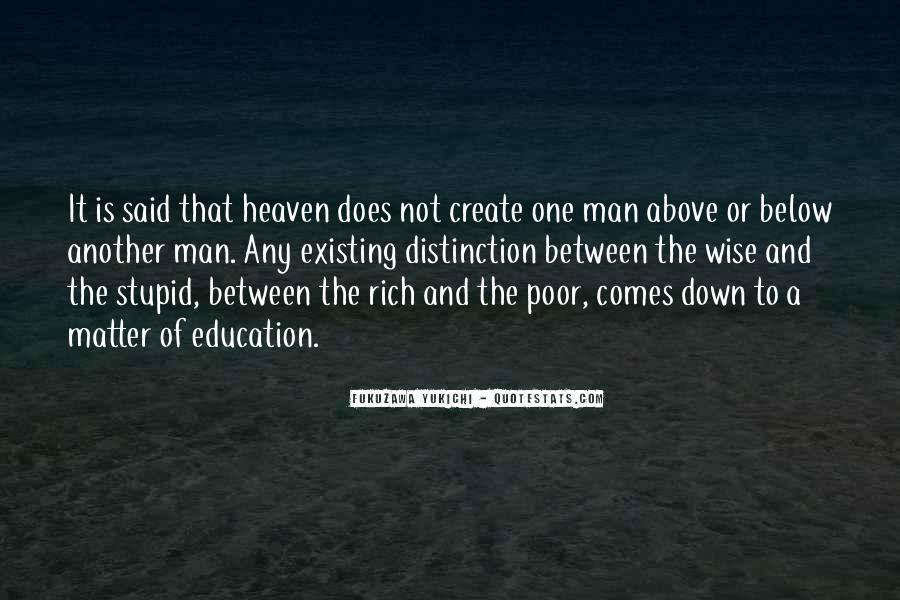 Rich Man Poor Man Quotes #191172