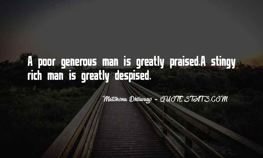 Rich Man Poor Man Quotes #229274
