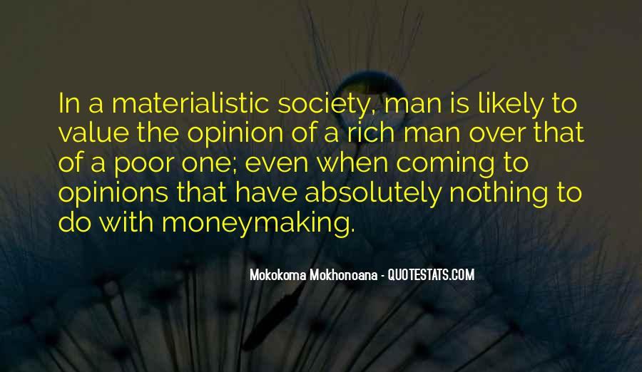 Rich Man Poor Man Quotes #244057