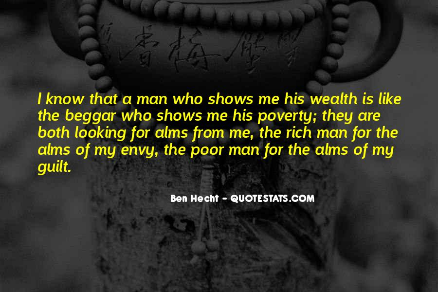 Rich Man Poor Man Quotes #245451