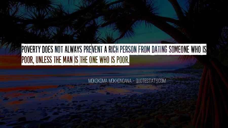 Rich Man Poor Man Quotes #280930
