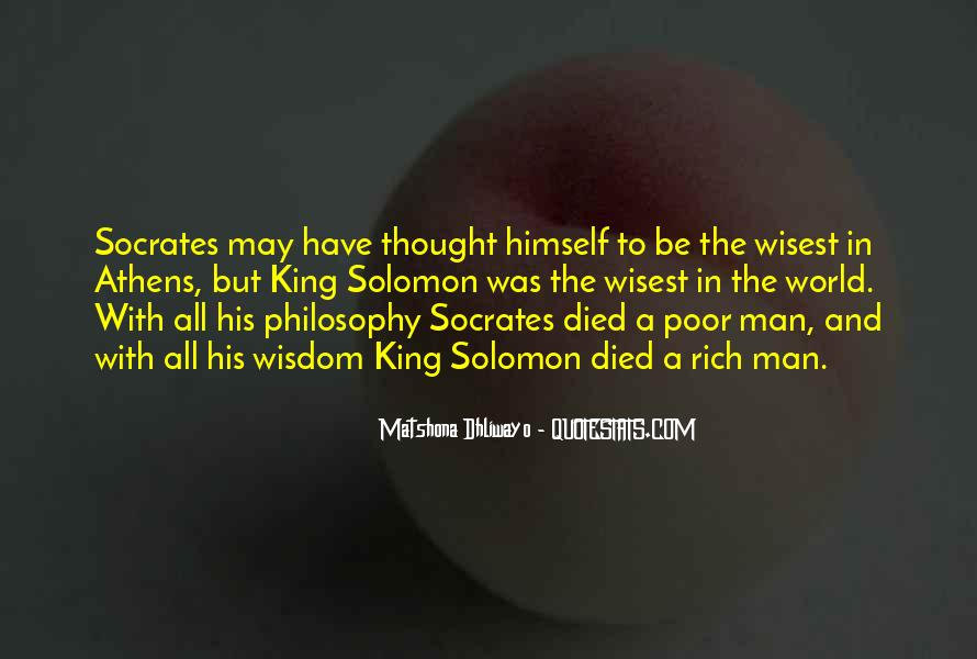 Rich Man Poor Man Quotes #46849
