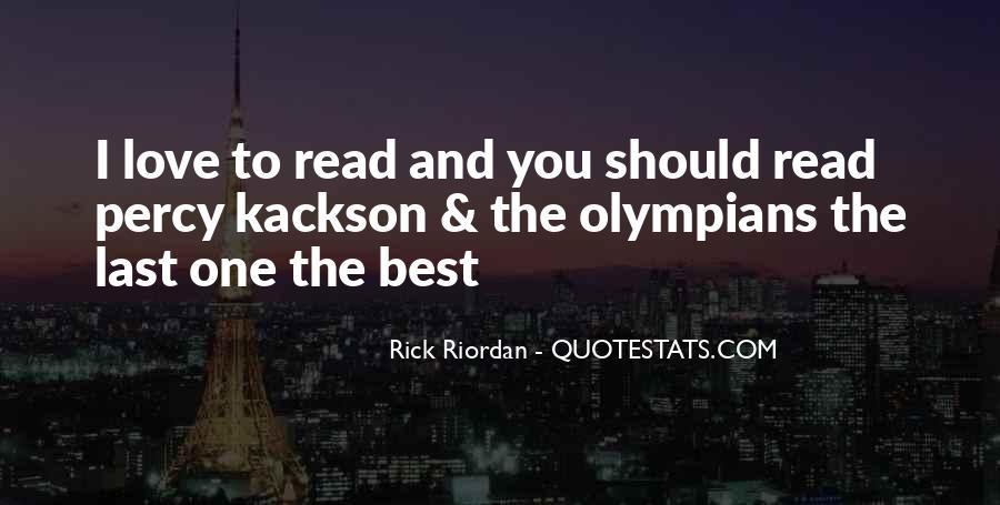 Rick Riordan Love Quotes #1131134
