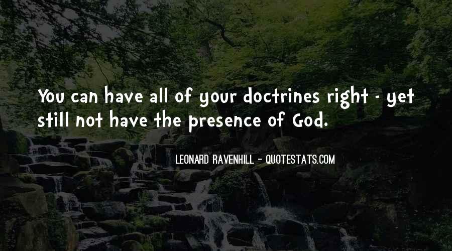 Right Doctrine Quotes #300414