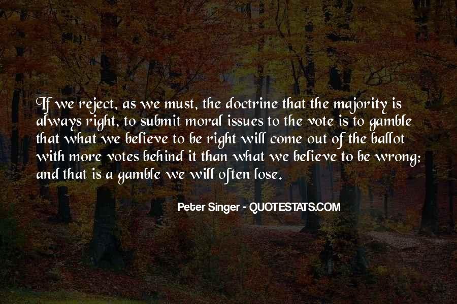 Right Doctrine Quotes #999046