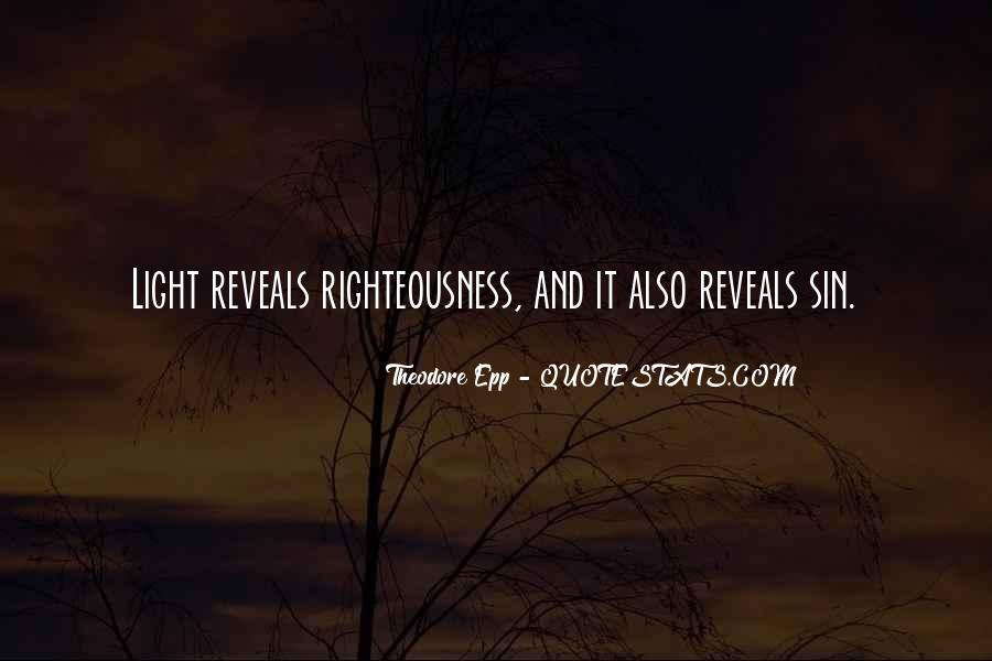 Righteousness Christian Quotes #1592610