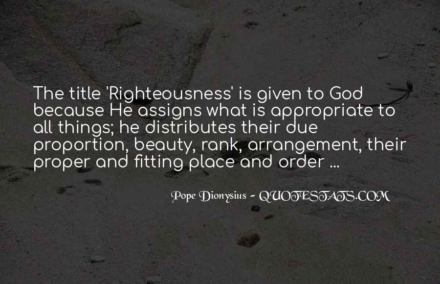 Righteousness Christian Quotes #304812