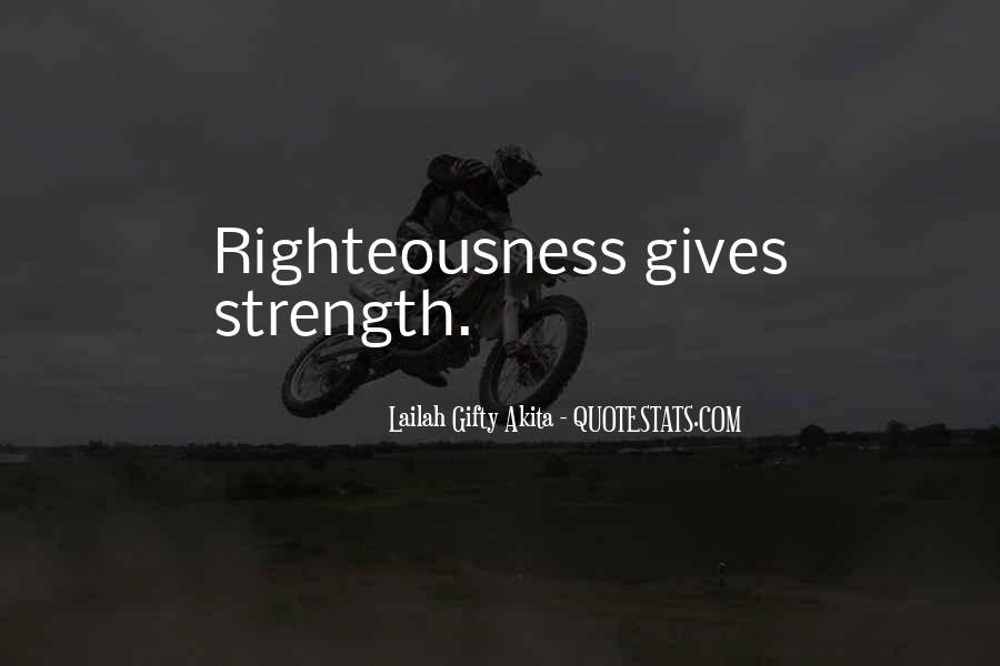Righteousness Christian Quotes #36464