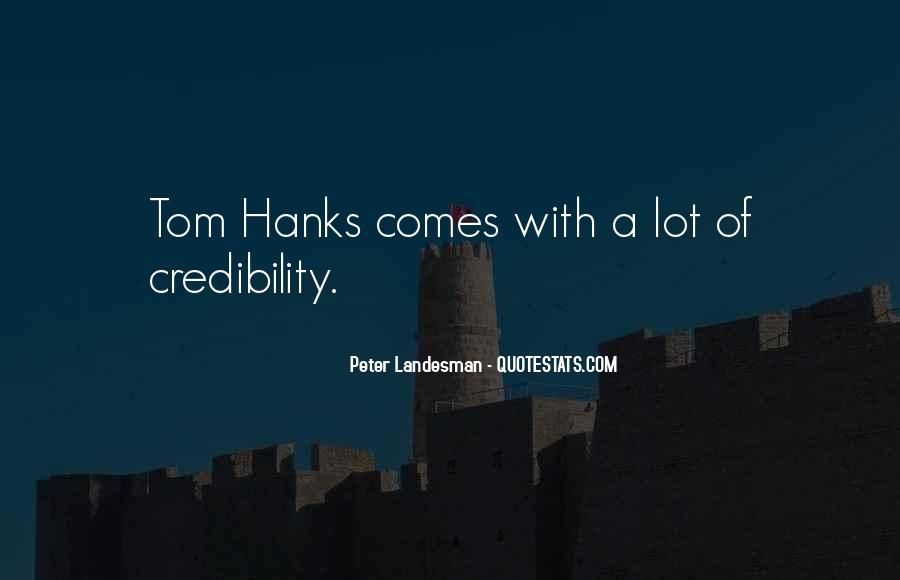 Quotes About Tom Hanks #728482