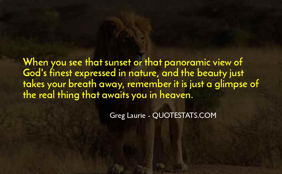 Quotes About Sunset And God #1102117
