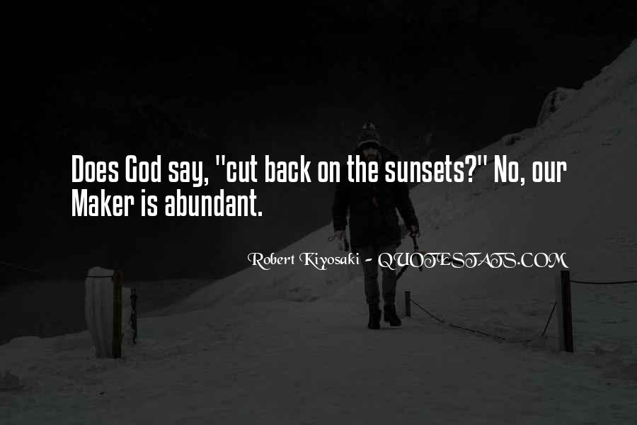 Quotes About Sunset And God #168208