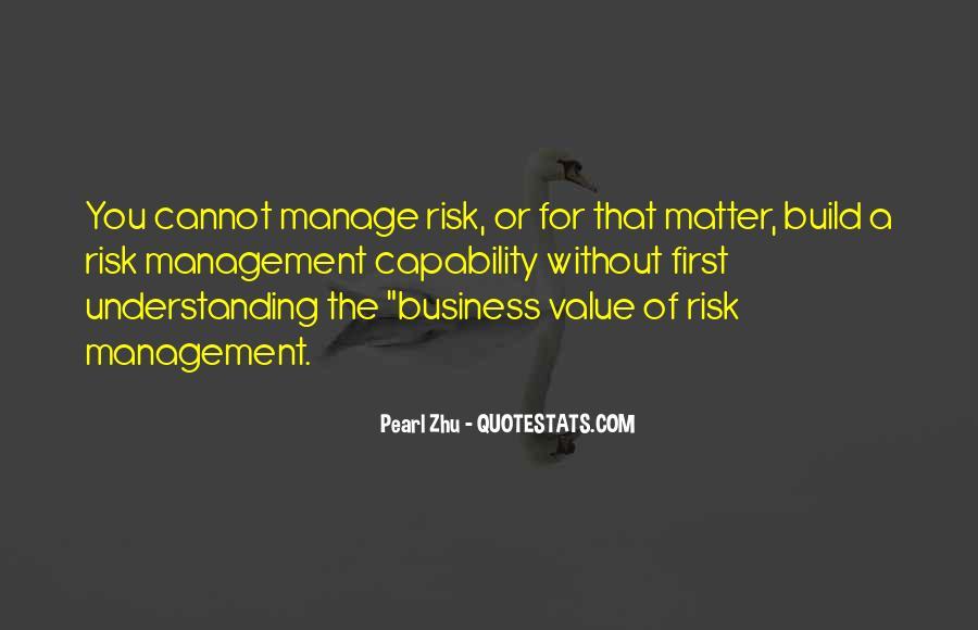 Risk Management Business Quotes #258110