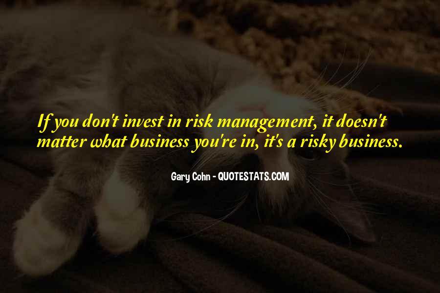 Risk Management Business Quotes #87844