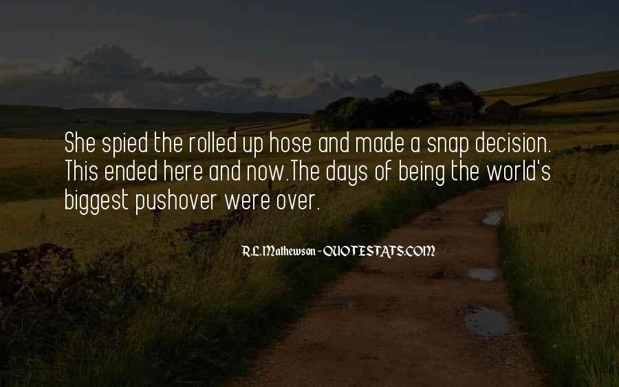 Rl Mathewson Quotes #1649782