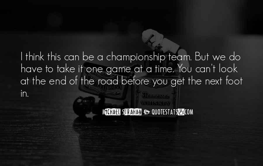 Road Game Quotes #160225