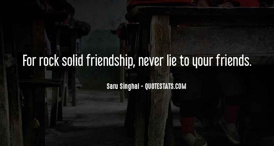 Rock Solid Friendship Quotes #223059