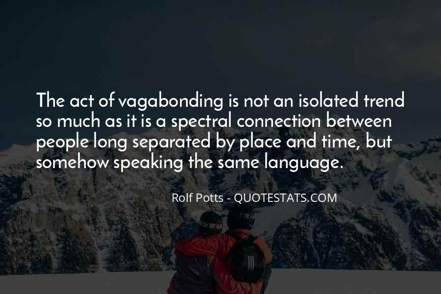 Rolf Potts Vagabonding Quotes #495672
