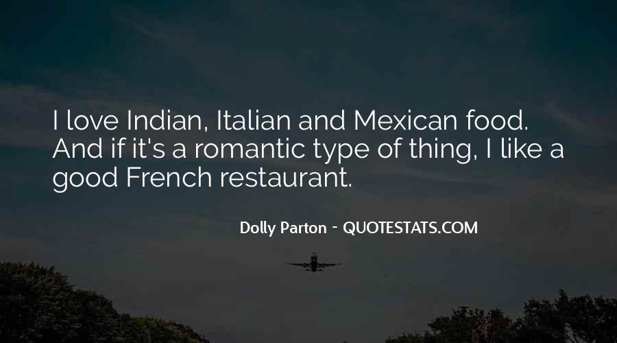 Romantic Food Quotes #362922