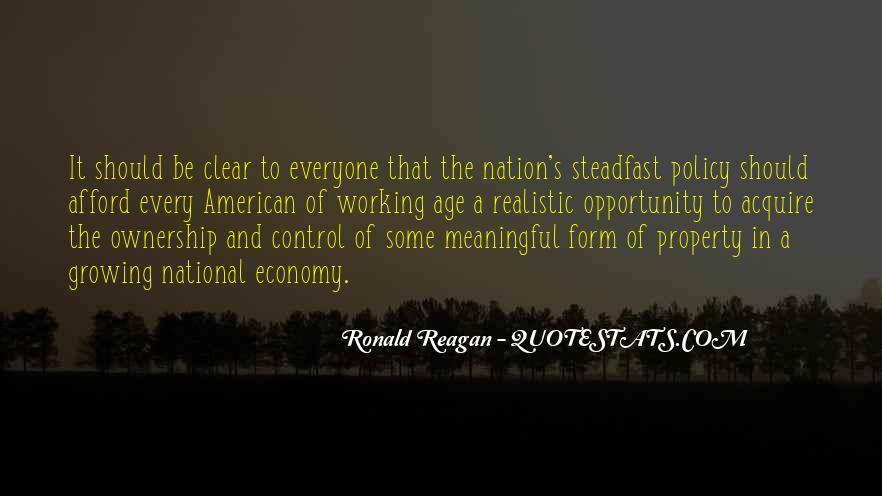 Ronald Reagan Economy Quotes #1692213