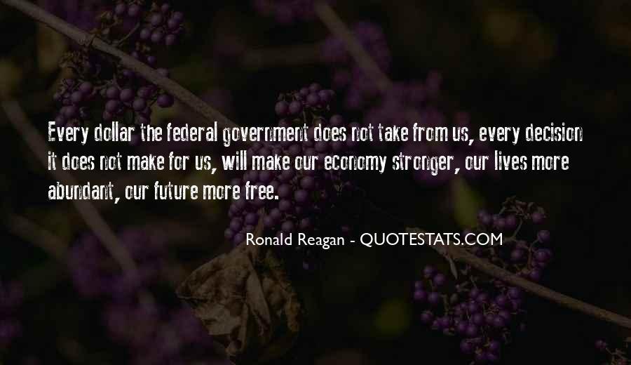 Ronald Reagan Economy Quotes #223508