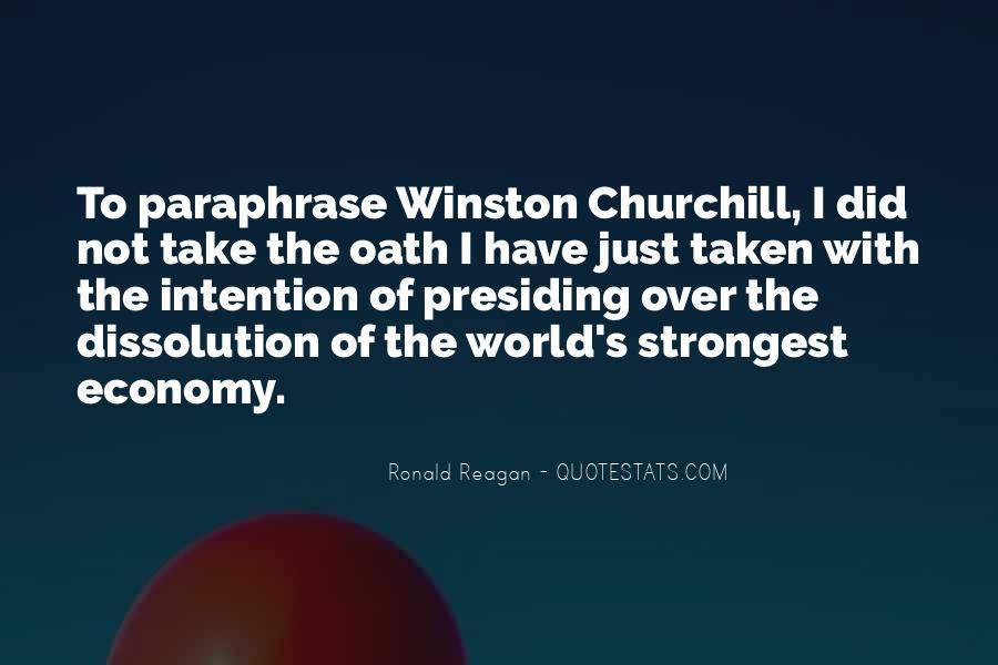 Ronald Reagan Economy Quotes #747614