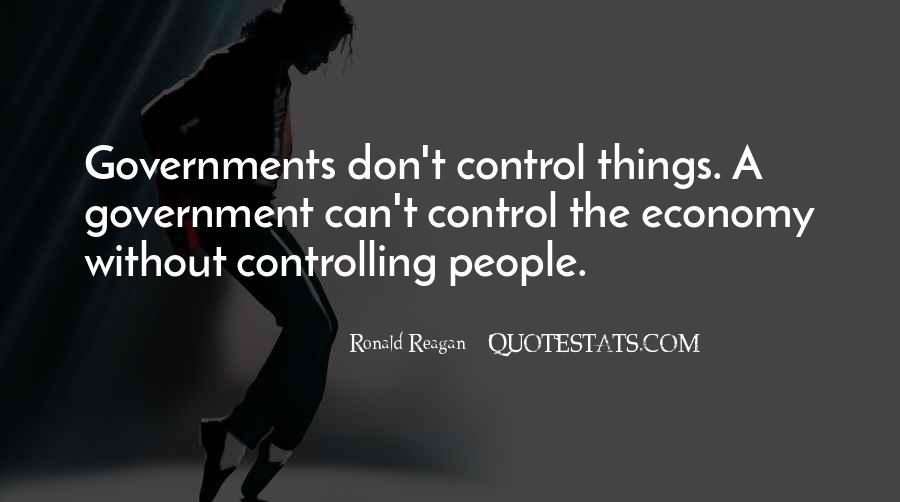 Ronald Reagan Economy Quotes #839656
