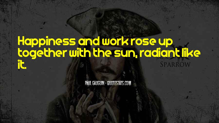 Quotes About Sun And Happiness #1053624