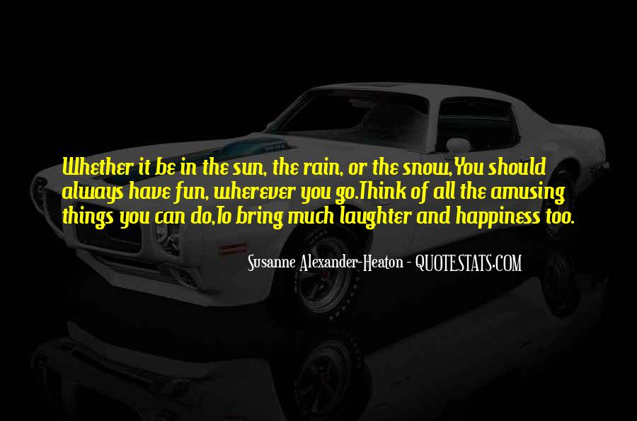 Quotes About Sun And Happiness #1535058