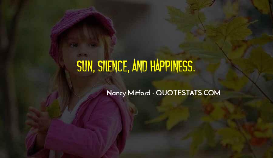 Quotes About Sun And Happiness #222194
