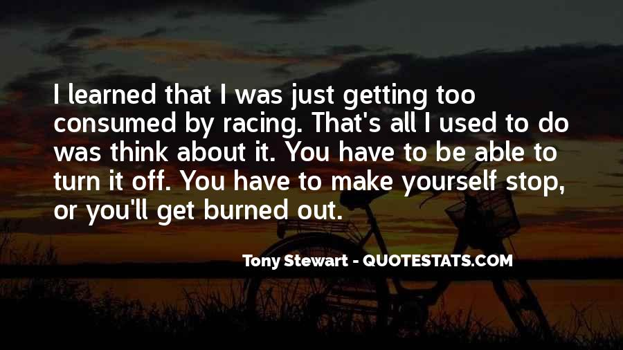 Quotes About Tony Stewart #389353