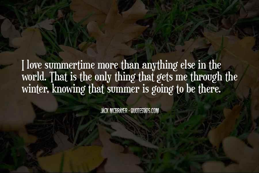 Quotes About Summertime Love #1008886