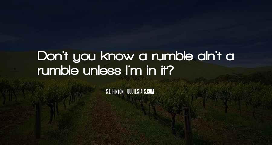 Rumble Quotes #867261