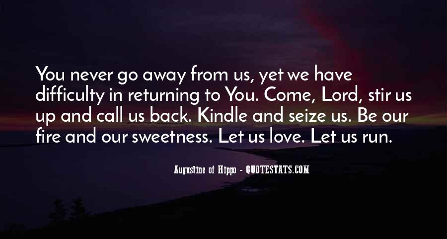 Run Away Love Quotes #1567739