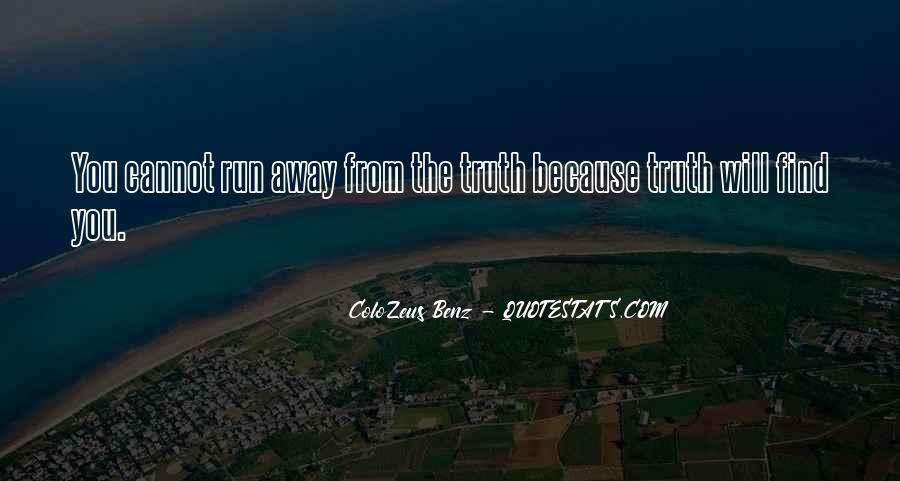 Run Away Love Quotes #1750341