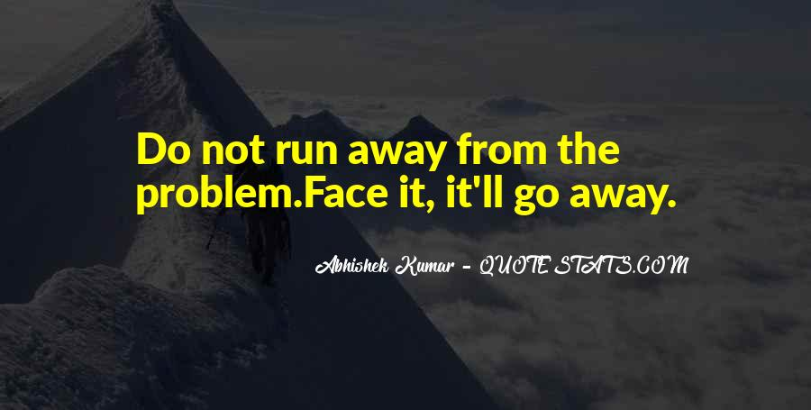 Run Away Love Quotes #210580