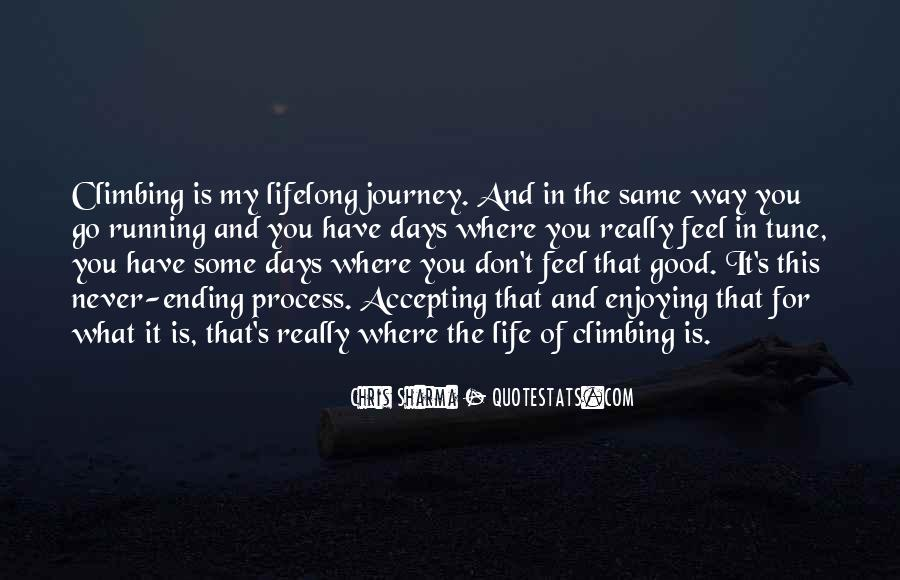 Running For My Life Quotes #1337966